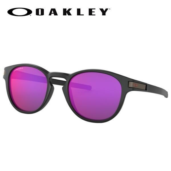 サングラス オークリー ラッチ アジアンフィット プリズム 自転車 ロード OAKLEY LATCH (A) OO9349-2753 Matte 黒 Translucent 赤/Prizm 国内正規品