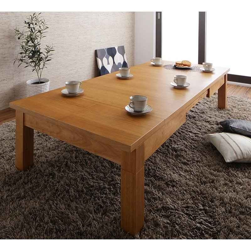 伸長式こたつテーブル 長方形(80×120·180cm)こたつのみ センターテーブル ローテーブル こたつ本体 こたつ単品