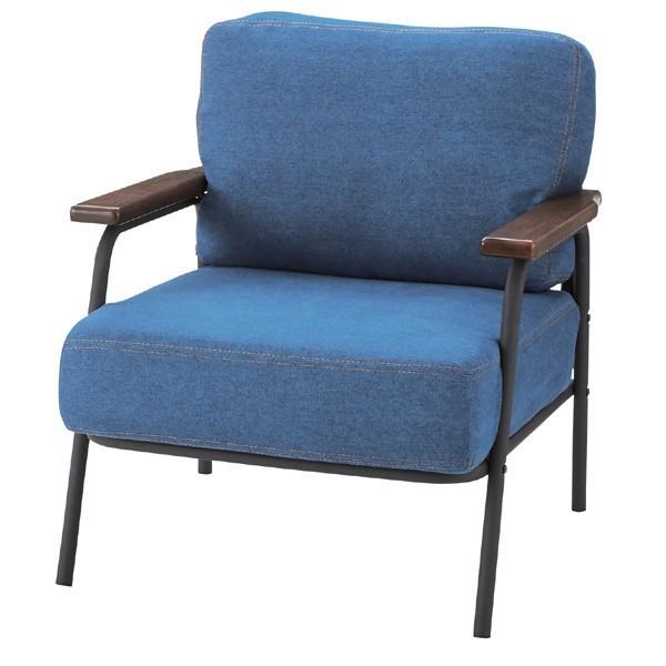 ソファ 1人掛け ポケットコイル ソファー スチール ファブリック ファブリック ファブリック 布張り 肘付き 脚付き 一人掛け 1人用 イス 椅子 ブルー 101