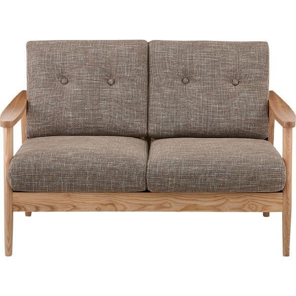ソファー ソファ 2人掛け 2人掛け 二人掛け 2人用 イス 椅子 チェアー チェア 肘付き 木製 天然木 北欧 カフェ風 リビング 一人暮らし