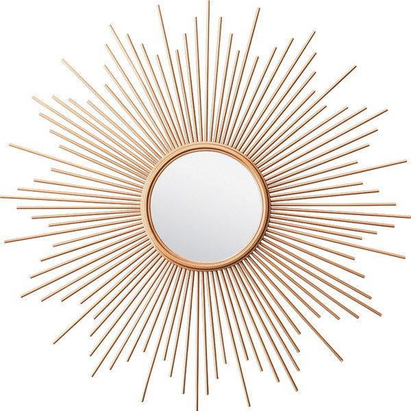 鏡 壁掛け スチール ウォールミラー ミラー 壁掛 かがみ カガミ レトロ アンティーク レトロ モダンヨーロピアン ゴールド