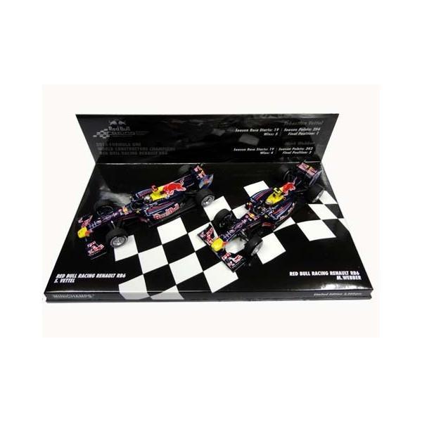 PMA 1/43 S.ベッテル & M.ウェーバー レッドブル・レーシング・ルノー RB6 コンストラクターズチャンピオンセット 限定品 2010