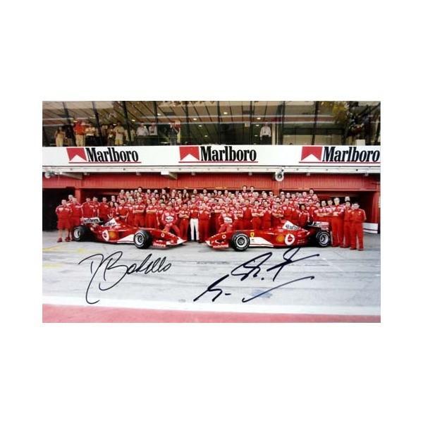 2003 M.シューマッハ & R.バリチェロ スクーデリア·フェラーリ F2003-GA 直筆サイン入写真 S-051