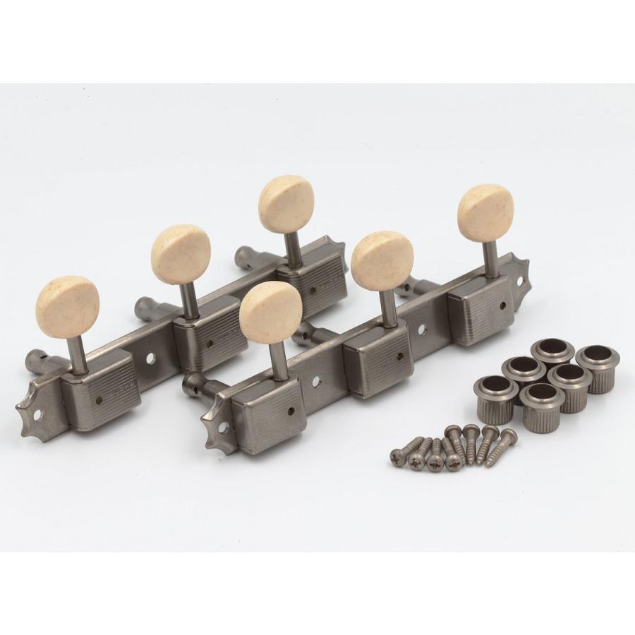 クルーソンタイプ3連ギターペグ/3SD-スタンダード軸(エイジドニッケル)|factorhythm