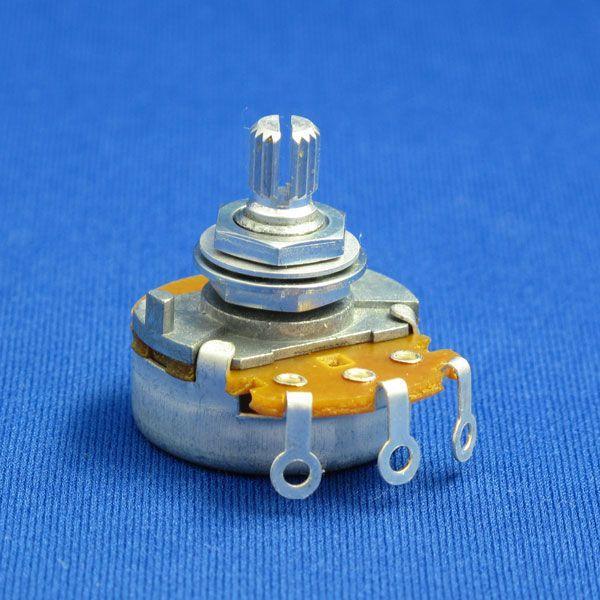 エレキギター&ベースパーツ ポテンショメータ/ポット/大径・短軸(外径24mm/軸長15mm) 250KΩ/500KΩ Aカーブ/Bカーブ|factorhythm