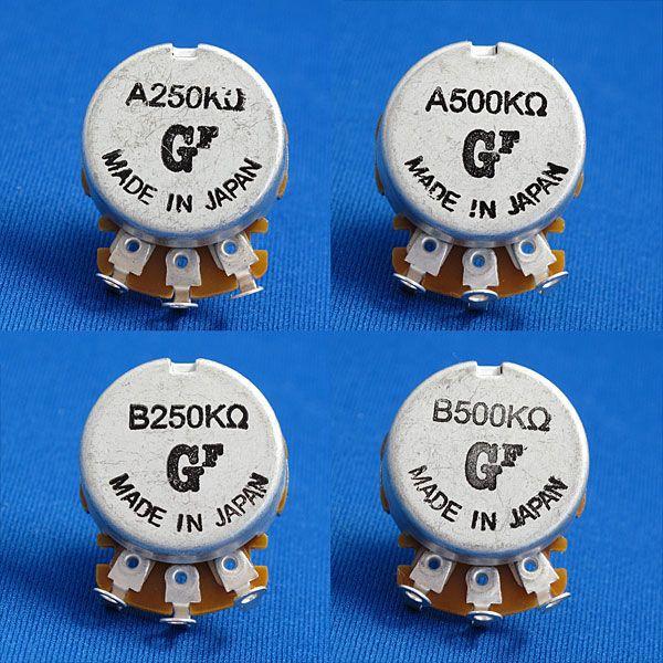 エレキギター&ベースパーツ ポテンショメータ/ポット/大径・短軸(外径24mm/軸長15mm) 250KΩ/500KΩ Aカーブ/Bカーブ|factorhythm|02