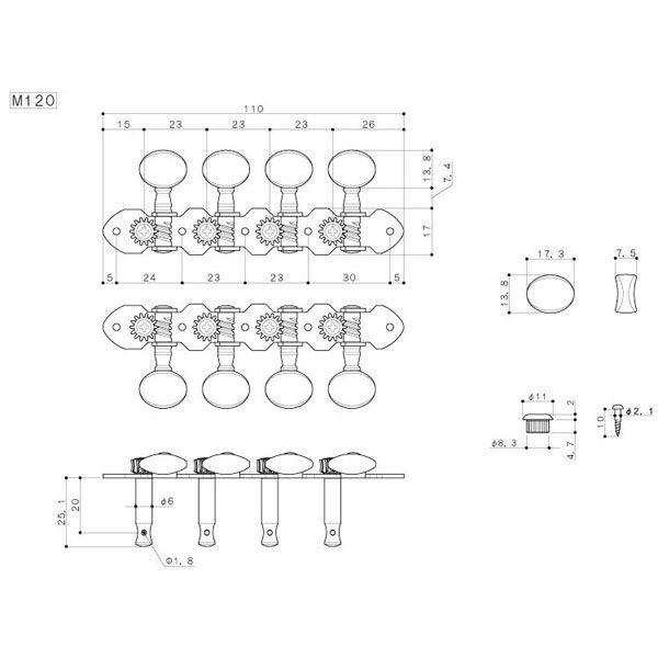 ゴトー【GOTOH】マンドリンペグ M120(ニッケル)|factorhythm|02