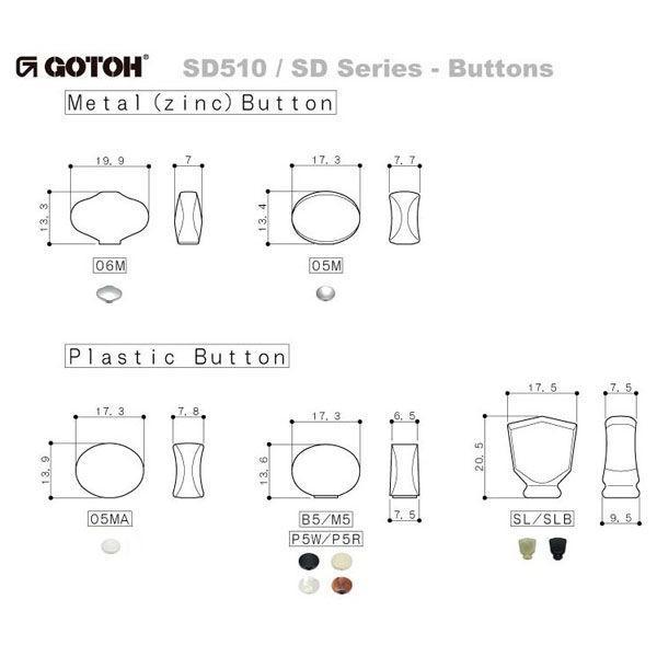 ゴトー【GOTOH】クルーソンタイプ ギターペグ SD510-マグナムロック(Xニッケル) ツマミ:05M/05MA/SL/06M/SLB|factorhythm|04