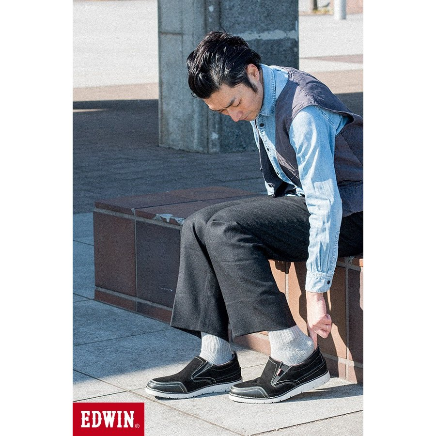 スリッポン スニーカー ビジネス シューズ カジュアル エドウイン EDWIN 本革靴 EDM91 限定品 軽量 オックス fairstone 16