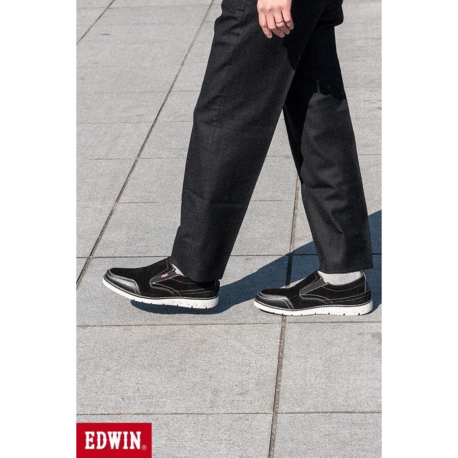 スリッポン スニーカー ビジネス シューズ カジュアル エドウイン EDWIN 本革靴 EDM91 限定品 軽量 オックス fairstone 17
