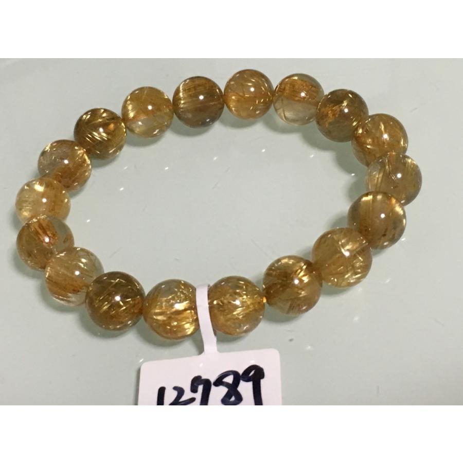 新品本物 天然石 高品質 ルチルクォーツ 11ミリ ブレスレット NO.12789, モンテーヌ/クロンヌ 2d42796b