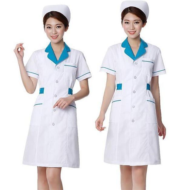 ナースウエア ワンピース 白衣 女性  作業着 看護 介護|fairydust|06