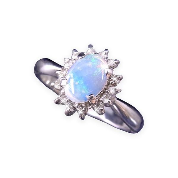 新品入荷 大粒オパール&ダイヤリング 指輪 17号, キムラヤ 365b1f1f