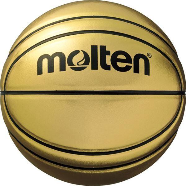 〔モルテン Molten〕 記念ボール バスケットボール 〔7号球〕 ゴールド 人工皮革 BGSL7 〔運動 スポーツ用品 イベント 大会〕