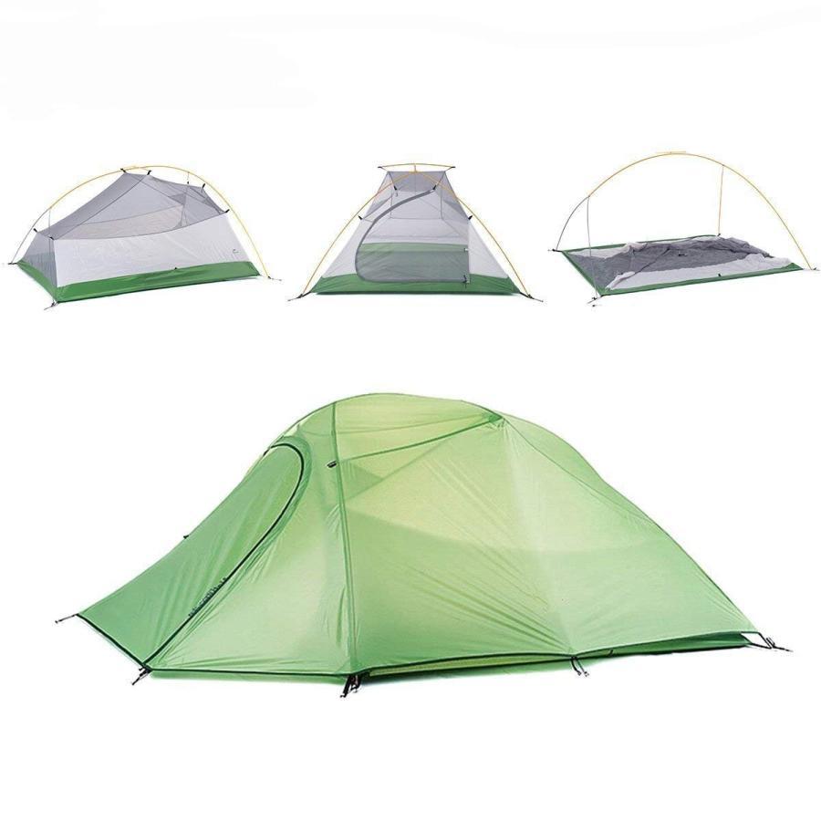Naturehike公式ショップ テント 3人用 Cloudup3二重層 超軽量 4シーズン 防風防水 アウトドア 登山 キャンプ(専用グラ