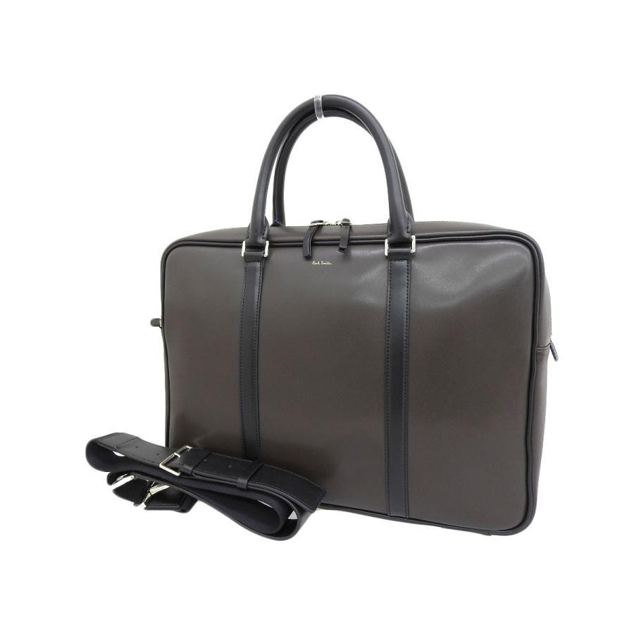 100%安い 超美品 Paul Smith ポールスミス メンズ バイカラー メンズ 2way ブリーフケース Paul レザー ショルダー レザー ブラウン 濃紺 書類かばん 20191018, 収納家具のイーユニット:6b4223c7 --- chizeng.com