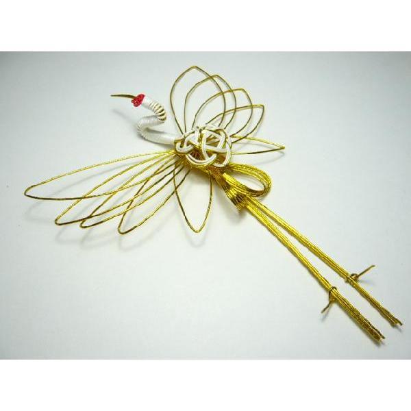 水引鶴・お正月飾り・祝儀袋◆3050-2迎春飾り 水引... - ファミリアミア