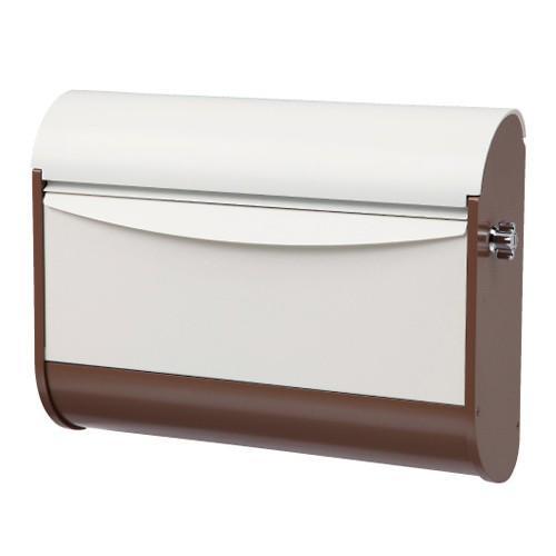 デザインポスト モコ PMC-B(ブラウン&アイボリー) ※ 福彫 おしゃれ かわいい デザイン 壁付 郵便ポスト 郵便受け ※