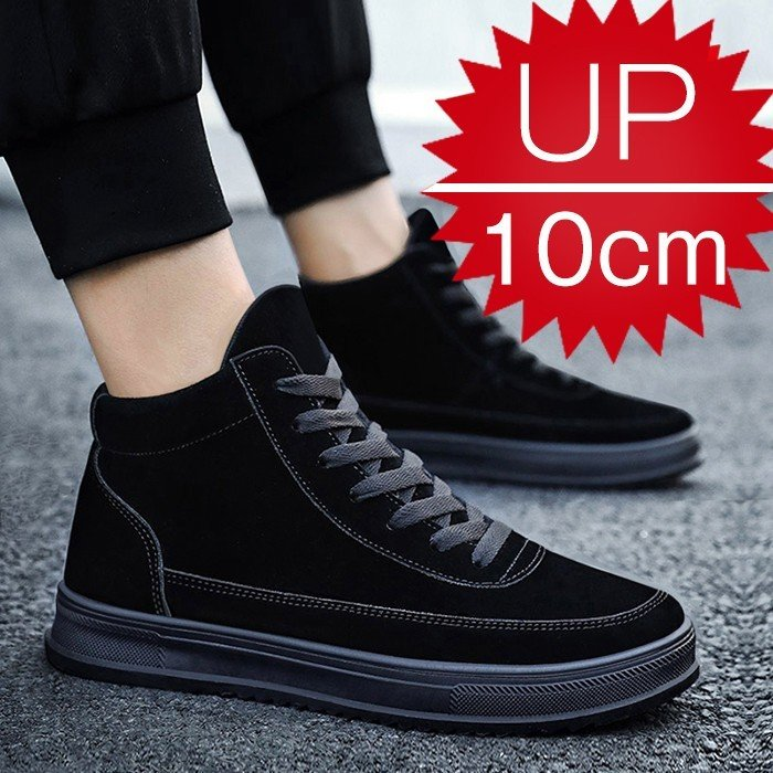 d8ea304fa644b0 6cm/8cm/10cm身長UP 背が高くなる靴 スニーカーブーツメンズシューズ ...