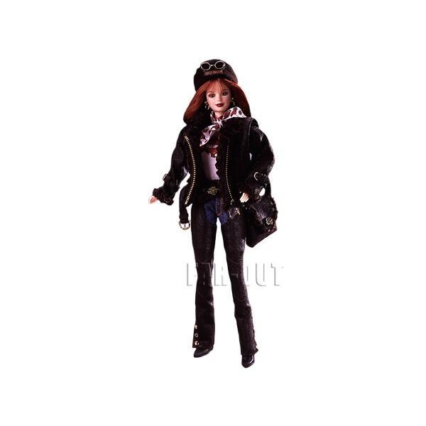 ハーレーダビッドソン バービー シリーズNo2 こげ茶色の革ジャンとパンツ Harley Davidson Barbie