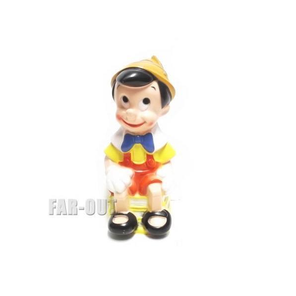 ピノキオ 座り バンク 貯金箱 フィギュア ヴィンテージ ディズニー