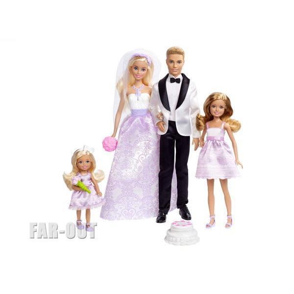 バービー&ケン 白と黒のタキシード w/ ステーシー&チェルシー ウェディング 結婚式 4体 デラックスセット