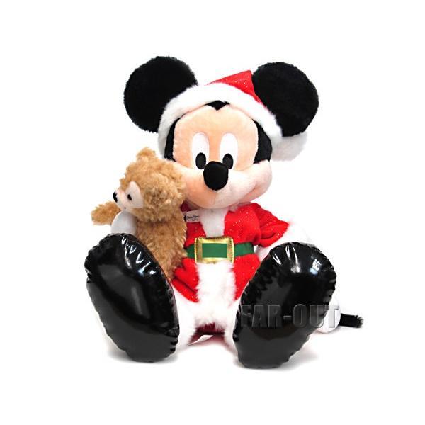 サンタミッキー & ダッフィーベア ぬいぐるみ ラージサイズ クリスマスホリデー 2013 テーマパーク版 Duffy ディズニー