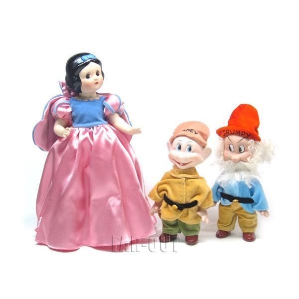 白雪姫 小人のドーピー グランピー Knickerbocker ポーセリンビスク ヴィンテージ 復刻版 ドール フィギュアリン 3点セット ディズニー