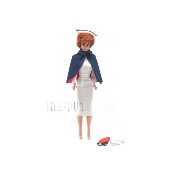 バービー ブルネット バブルカット レジスタード ナース 看護婦 ヴィンテージ 1961年 アウトフィットファッション付き ドール 人形