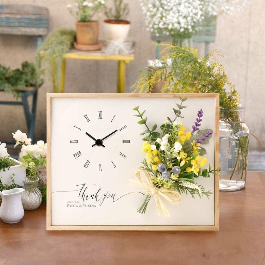 結婚式 両親贈呈品 花時計 / クロックブーケ[リボンゴム付] / ご両親へのプレゼント|farbe