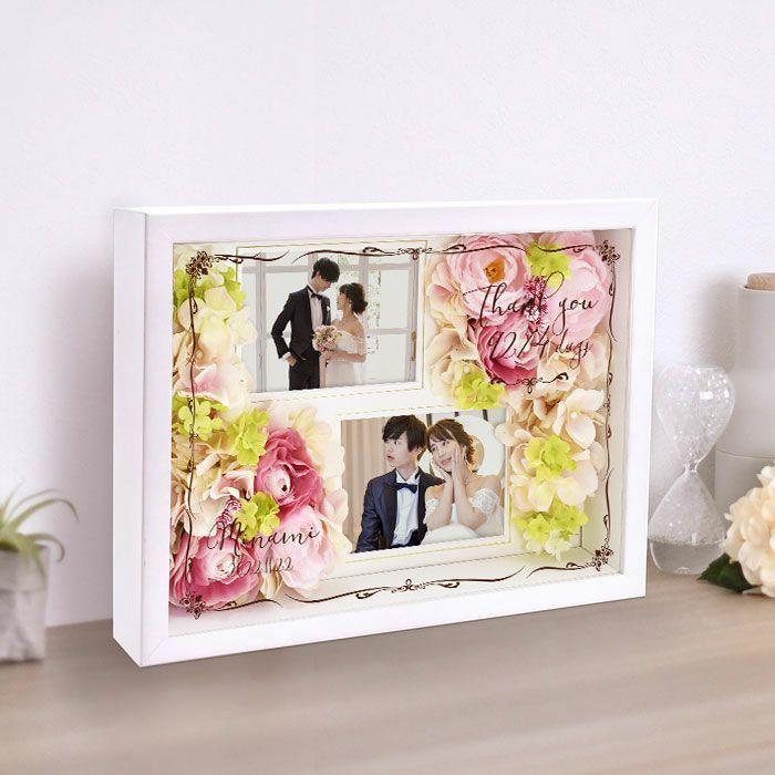 結婚式 贈呈品 / フォトフレームフラワー子育て感謝状 / 両親へのプレゼント|farbe|09