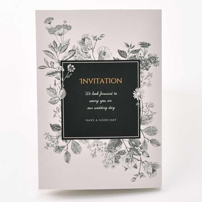 結婚式 招待状 /「ボタニカルmono」招待状完成品オーダー(入力・印刷込) / 完成品 ブライダル|farbe|04
