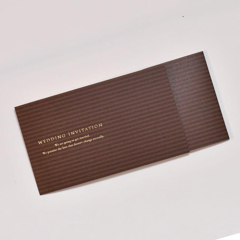 招待状 チケット風クラフト(入力印刷込) / 結婚式|farbe|05