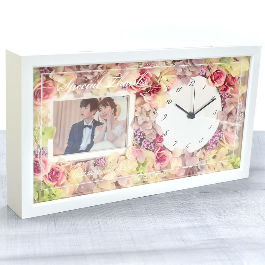 結婚式 両親 プレゼント/ 花時計フォトフレーム付き贈呈品 / 両親贈呈品&祖父母ギフト farbe 10