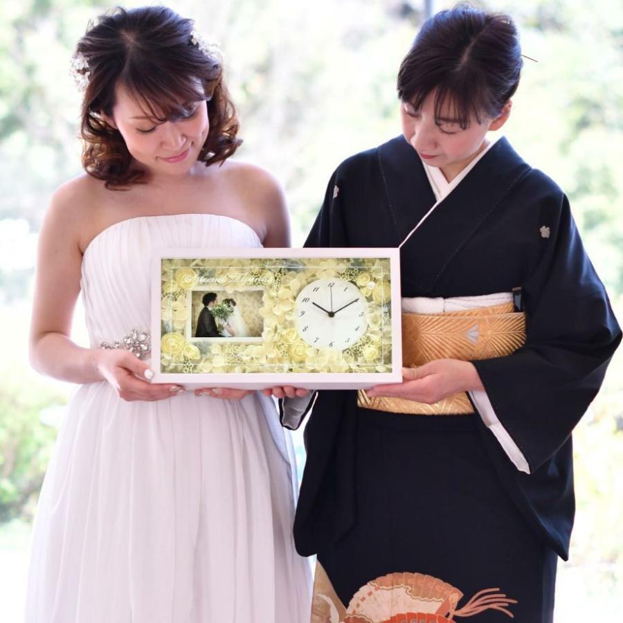 結婚式 両親 プレゼント/ 花時計フォトフレーム付き贈呈品 / 両親贈呈品&祖父母ギフト farbe 11