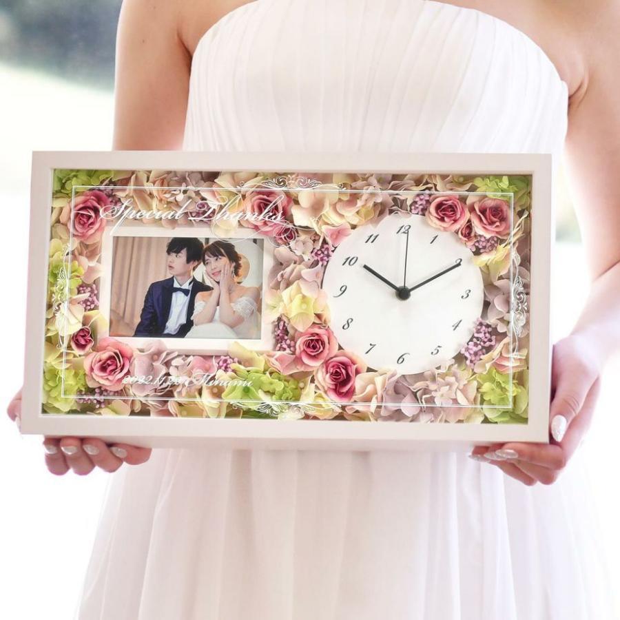 結婚式 両親 プレゼント/ 花時計フォトフレーム付き贈呈品 / 両親贈呈品&祖父母ギフト farbe 04