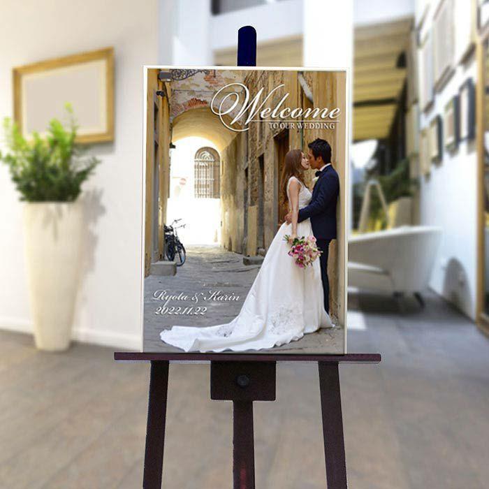 結婚式 ウェルカムボード / フォトウェルカムボード 1ショットシルバー(A2サイズ) / 二次会 パーティー|farbe|03