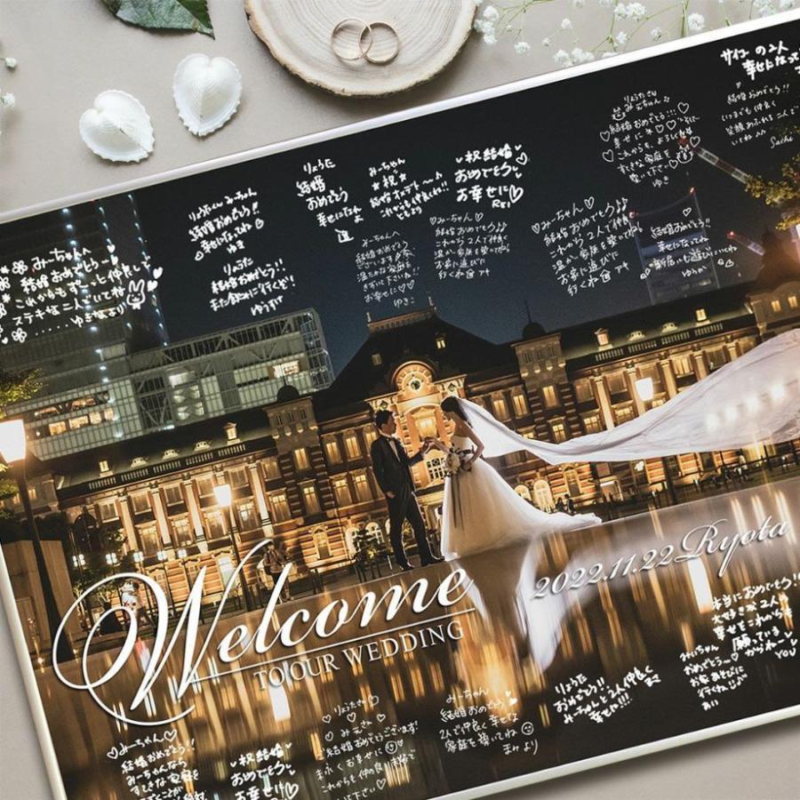 結婚式 ウェルカムボード / フォトウェルカムボード 1ショットシルバー(A2サイズ) / 二次会 パーティー|farbe|06