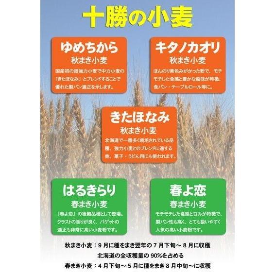 ヤマチュウ(山本忠信商店)ゆめちからブレンド「ユメミルうさぎ」北海道産パン用小麦粉 1kg farmtokachi 05