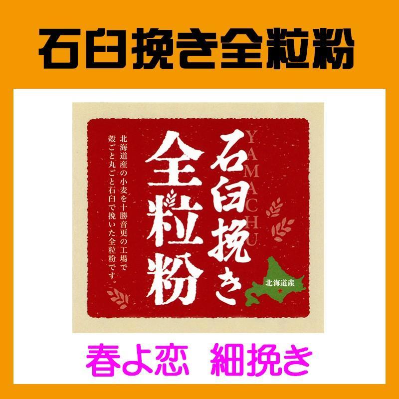 北海道産石臼挽き全粒粉 ショップ 春よ恋 1kg 細挽きタイプ 限定特価