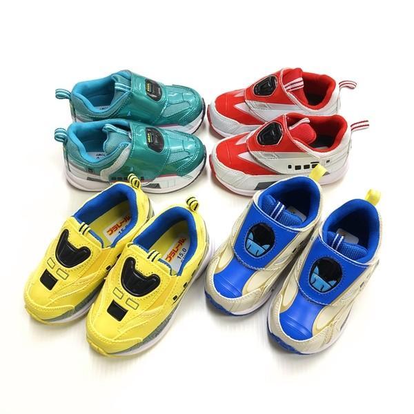 プラレール スニーカー 靴 新幹線 電車 キッズ マジックテープ スリッポン 子供 キャラクター fashionichiba-sanki 13
