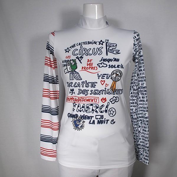 カステルバジャック CASTELBAJAC レディース 長袖ハイネックプリントインナーシャツ 通常販売価:17600円
