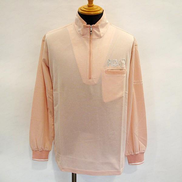アダバット adabat メンズ 長袖ジップアップハイネックポロシャツ(アウトレット50%OFF) 半額 ゴルフウェア 通常販売価格:22000円