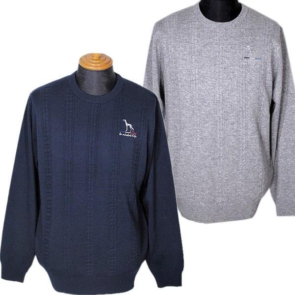 アダバット adabat メンズ クルーネックセーター ニット ゴルフウェア 2019秋冬新作 通常販売価格:20900円