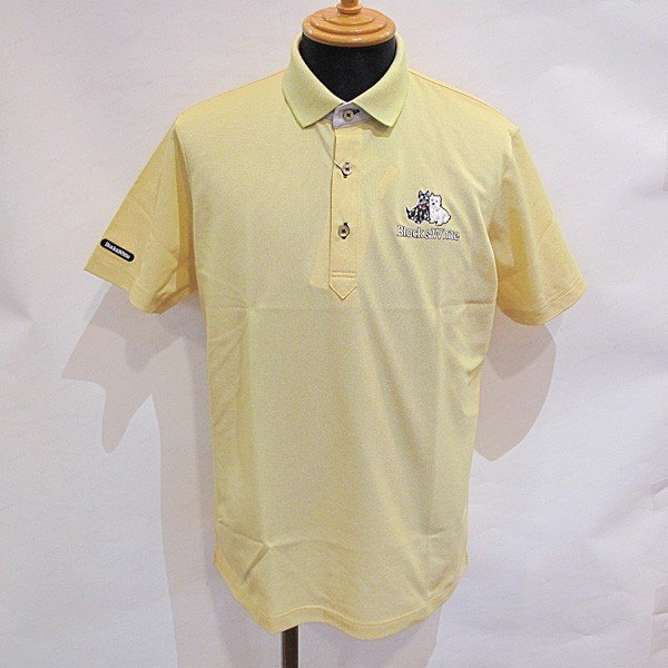 ブラック&ホワイト 黒&白い メンズ 半袖ワンポイントポロシャツ (アウトレット30%OFF) ゴルフウェア 通常販売価格:14850円