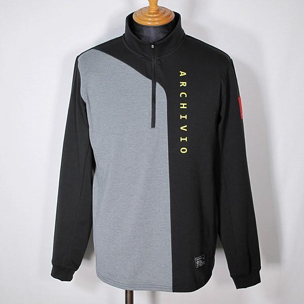 アルチビオ archivio メンズ 長袖ハイネックジップアップバイカラーバックプリントポロシャツ ゴルフウェア 通常販売価格:27500円