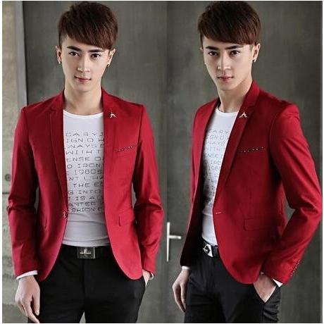 スーツ 赤