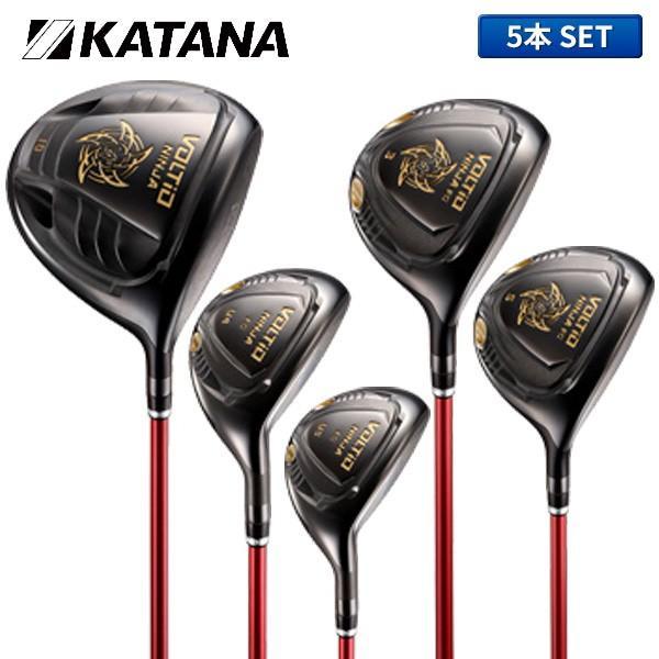 カタナ ゴルフ ボルティオ ニンジャ ブラック ウッドセット 5本組 (1W,3W,5W,U4,U5) フジクラ スピーダー NINJA 880Hi KATANA