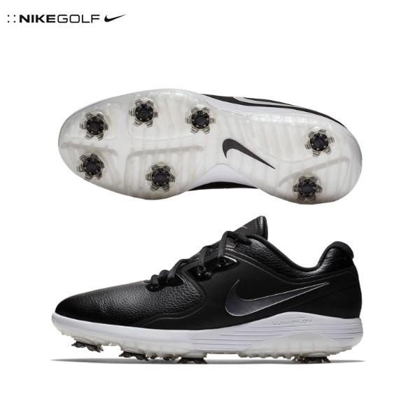 ナイキ ゴルフ ヴェイパー プロ AQ2196 ゴルフシューズ ブラック/ホワイト/ボルト/メタリッククールグレー NIKE ベイパー