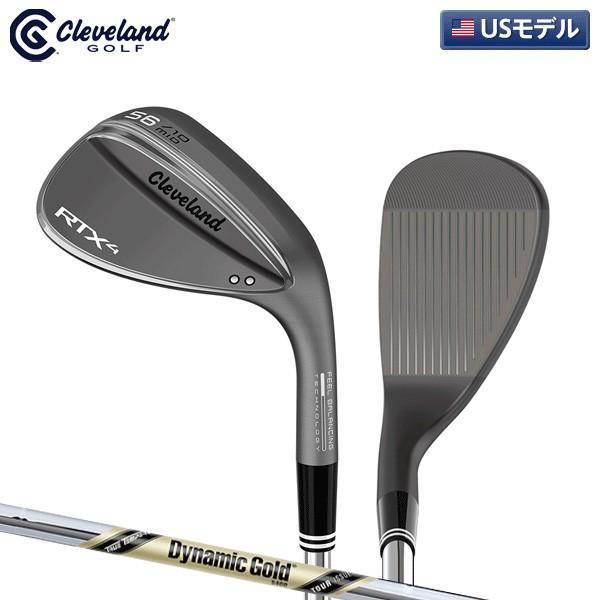 「USモデル」 クリーブランド ゴルフ RTX4 ブラックサテン ウェッジ ダイナミックゴールド ツアーイシュー S400 スチールシャフト Tour ISSUE RTX-4
